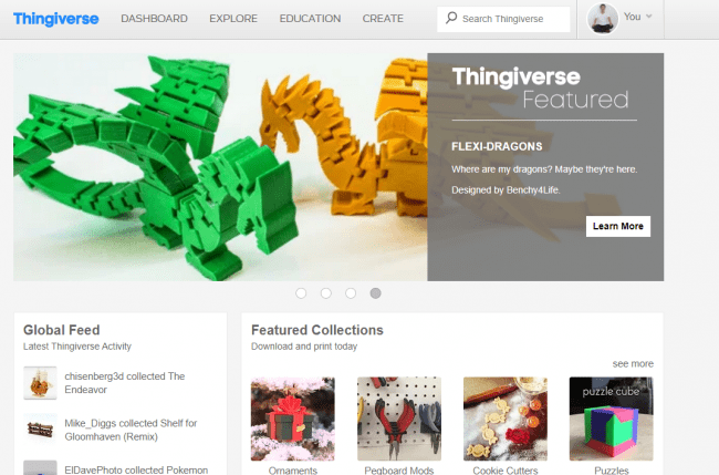 Thingiversトップページ